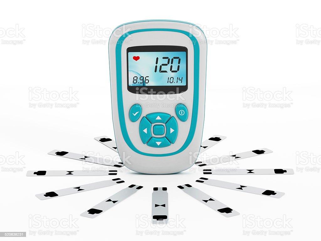 Blood glucose test stock photo