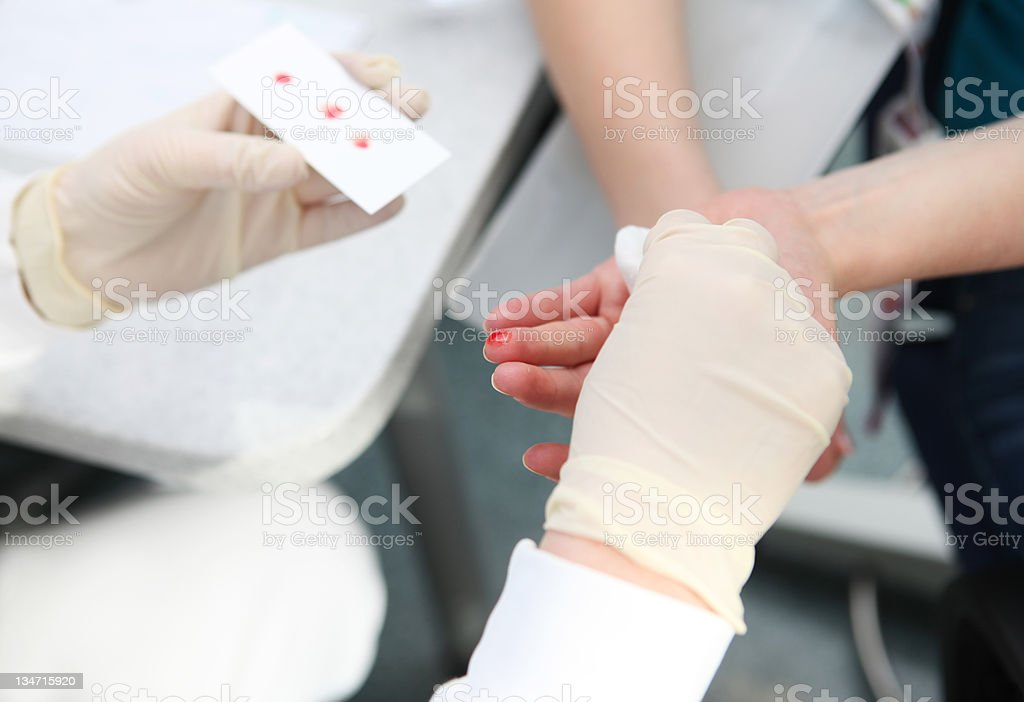 Blood group determination.. royalty-free stock photo