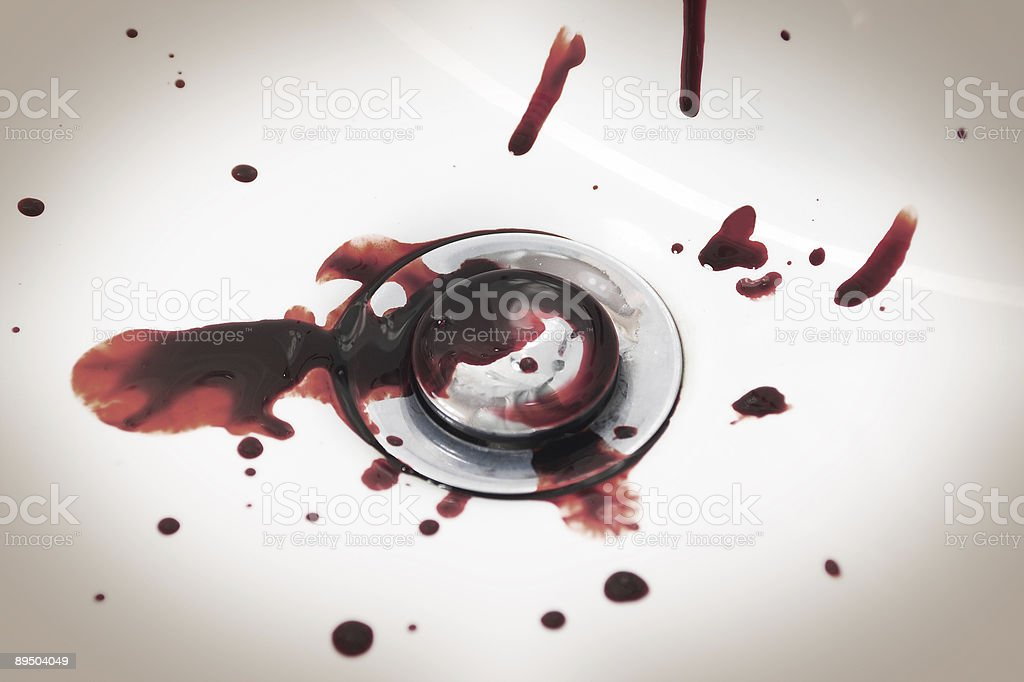 Blood in Sink royalty-free stock photo