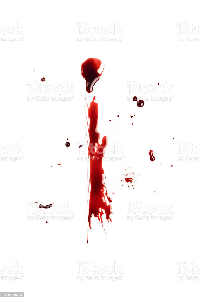 Blood Letter I Wet Lowercase royalty-free stock photo