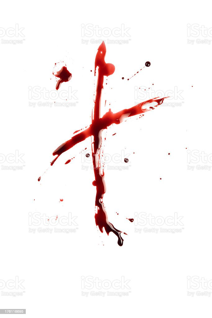 Blood Letter T Wet Lowercase royalty-free stock photo