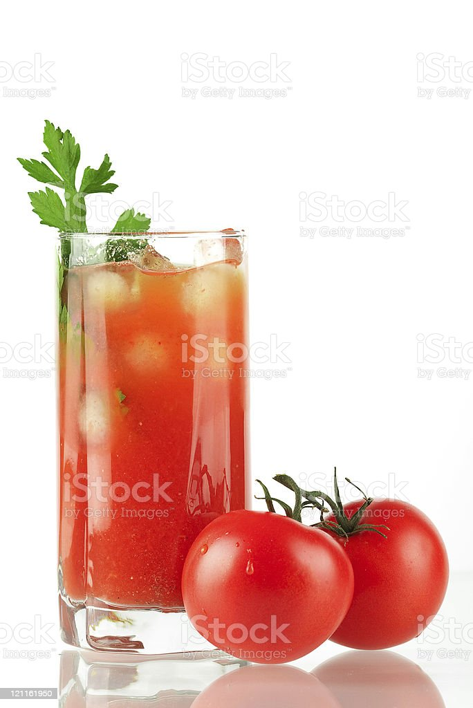 Blood mary alcohol cocktail royalty-free stock photo