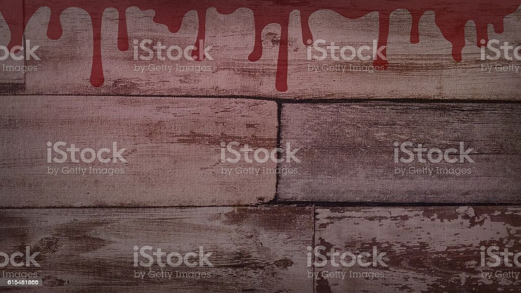 Blood on old wall stock photo