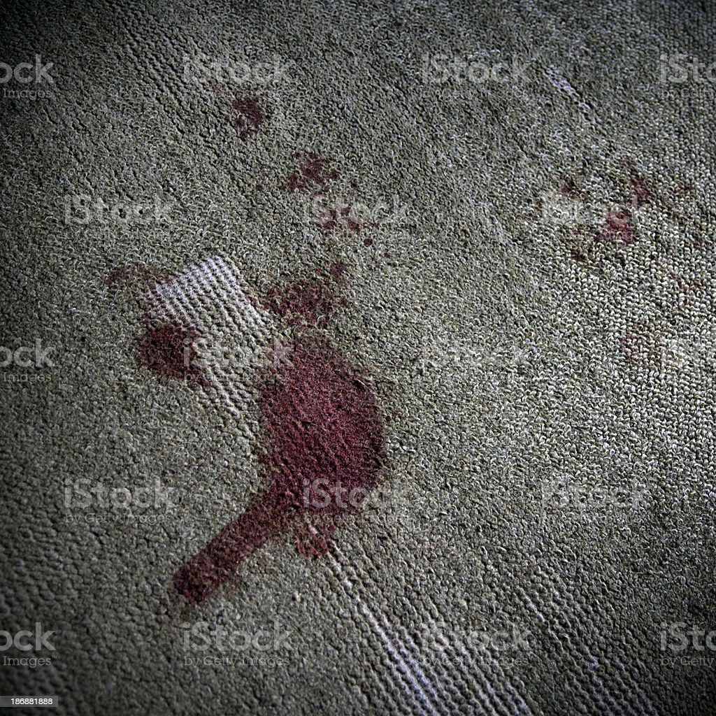 Blood on the carpet stock photo