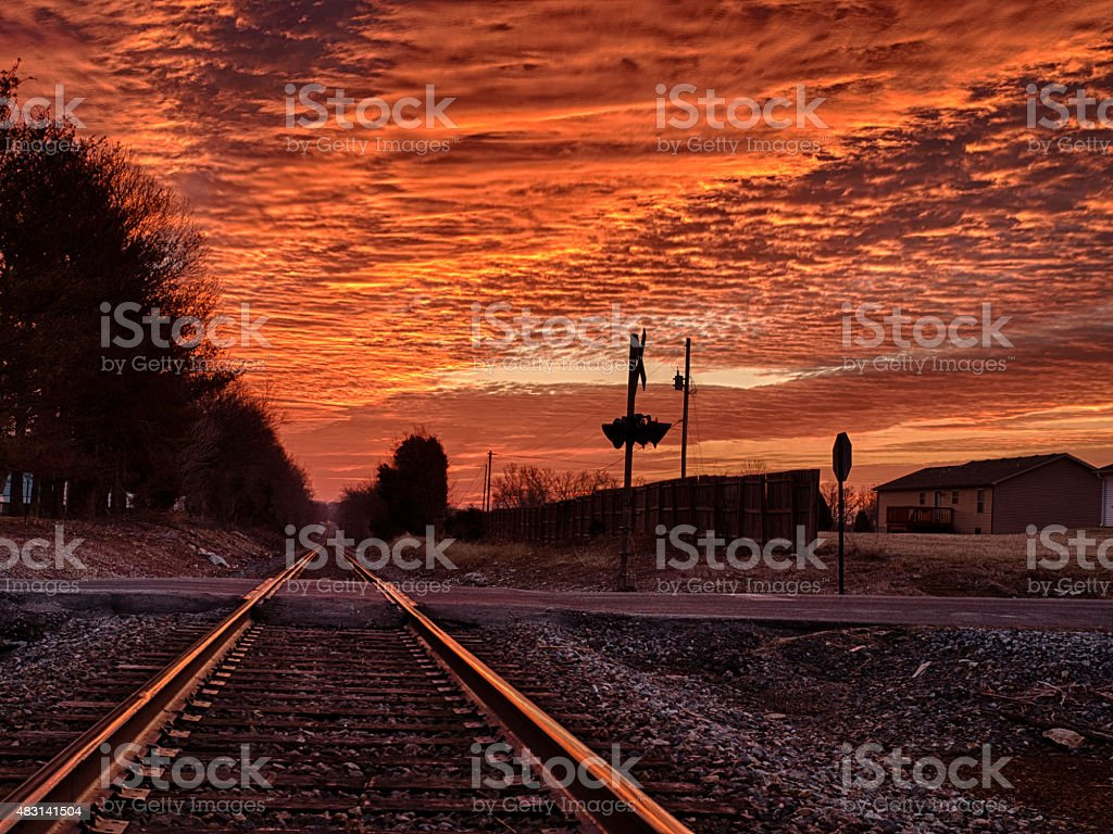 Blood On The Tracks stock photo