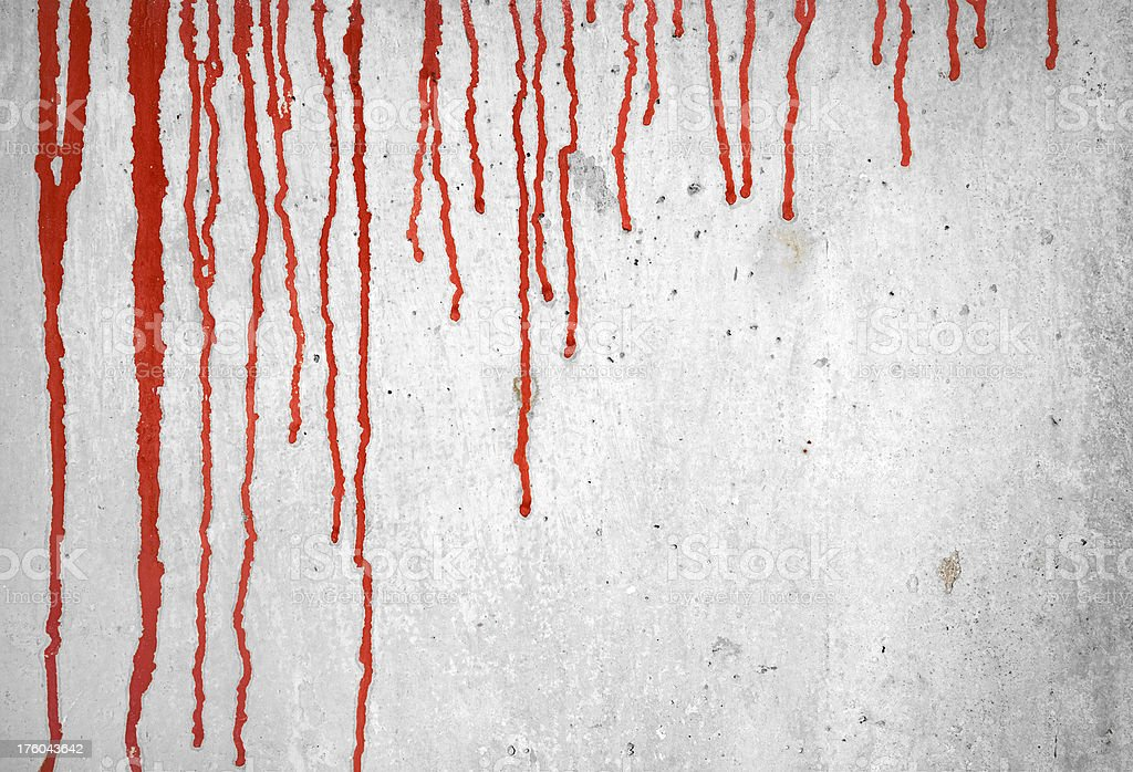 Blood on wall royalty-free stock photo