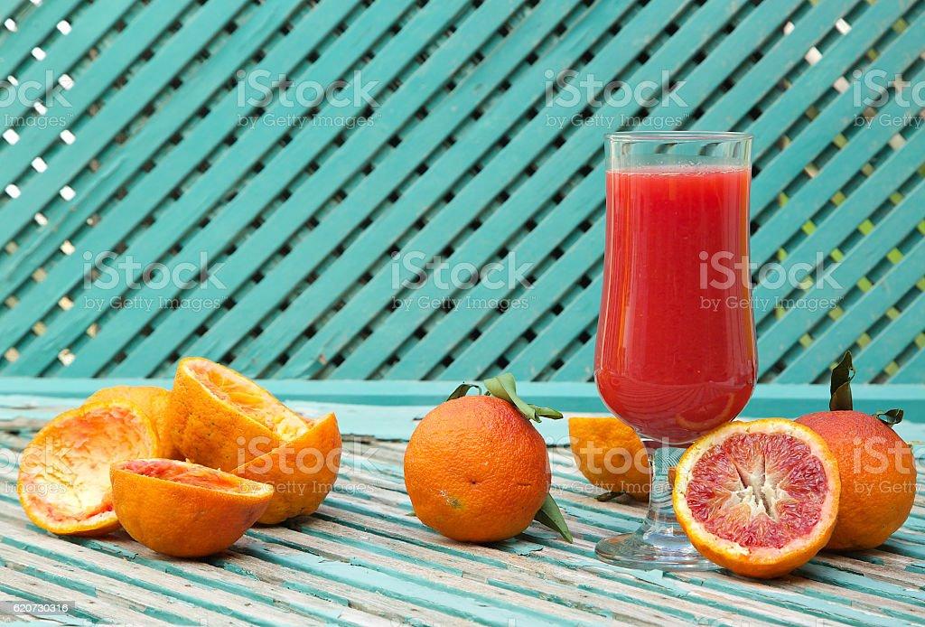 Blood orange fresh juice stock photo