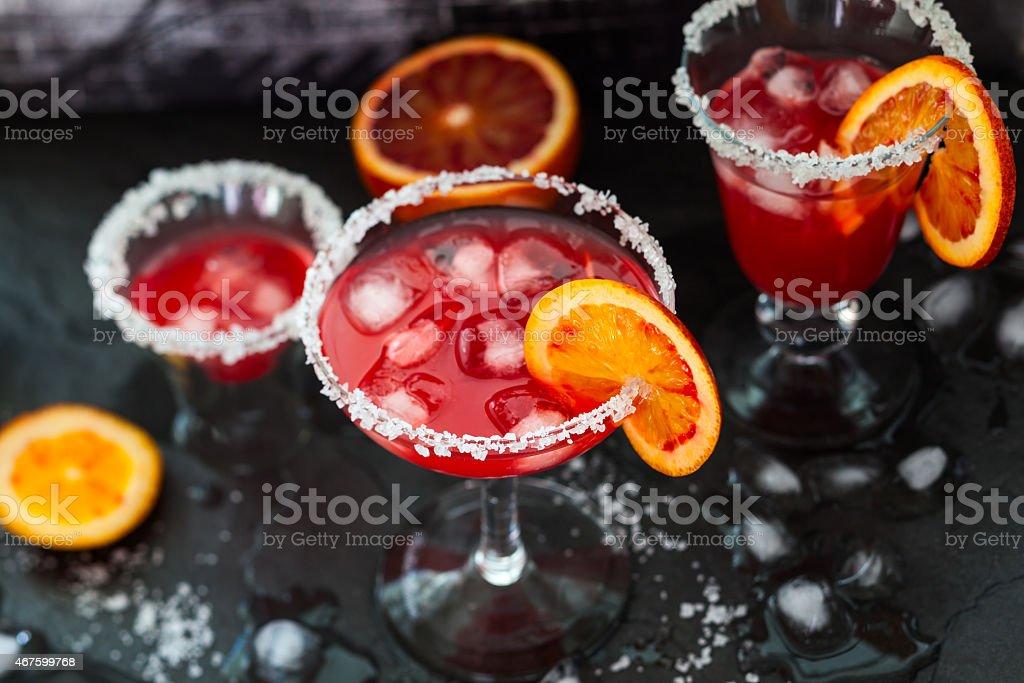 Blood Orange Margarita stock photo