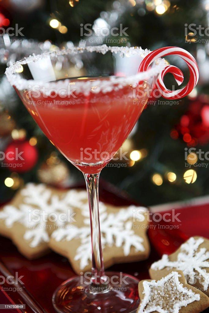 Blood orange martini stock photo