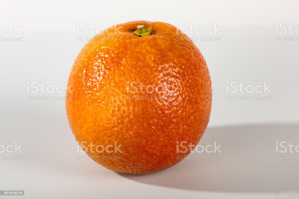 Blood Orange on White Background stock photo