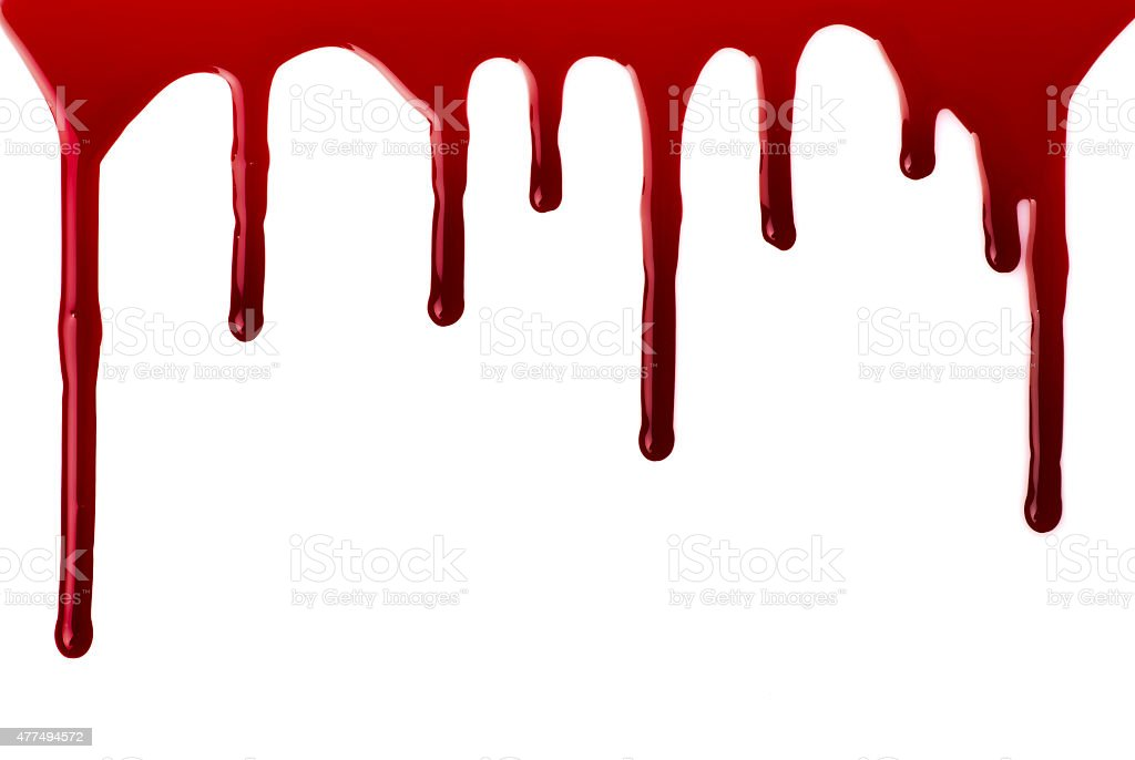 Blood pouring stock photo