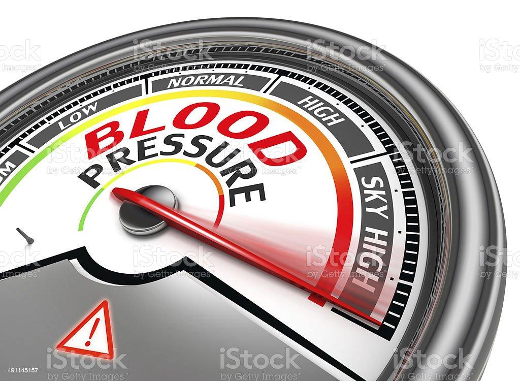 blood pressure conceptual meter stock photo