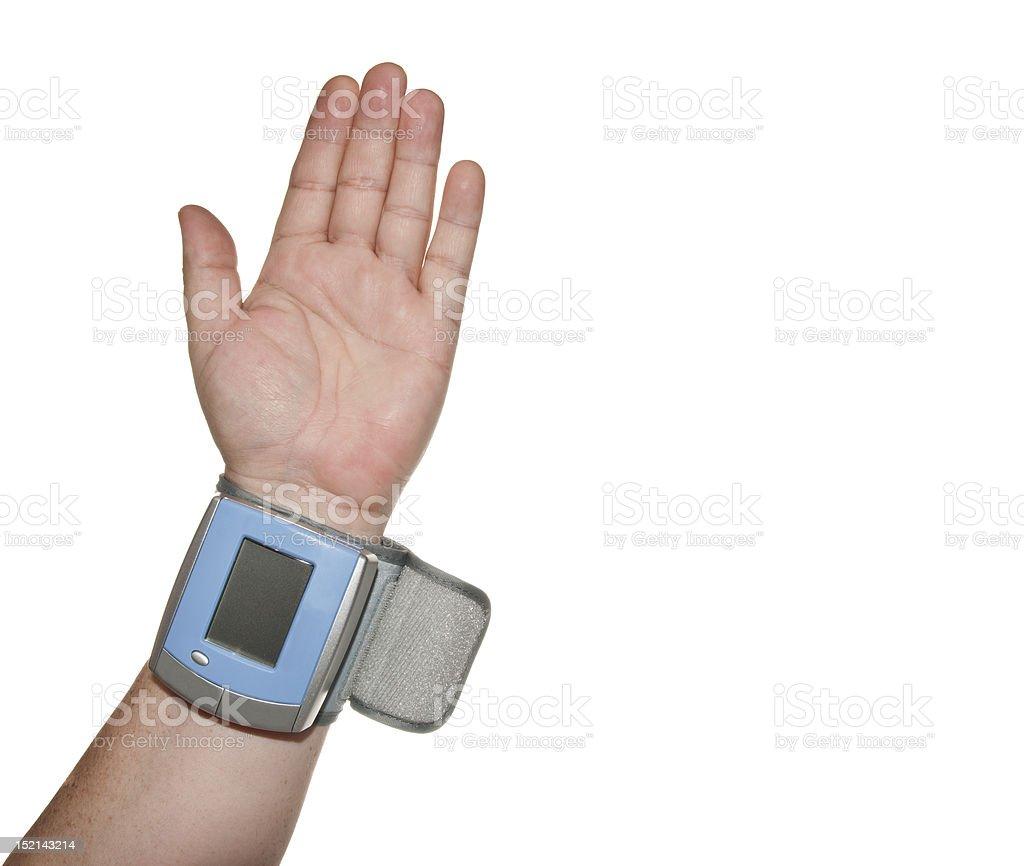 Pressão arterial no punho canelado foto royalty-free