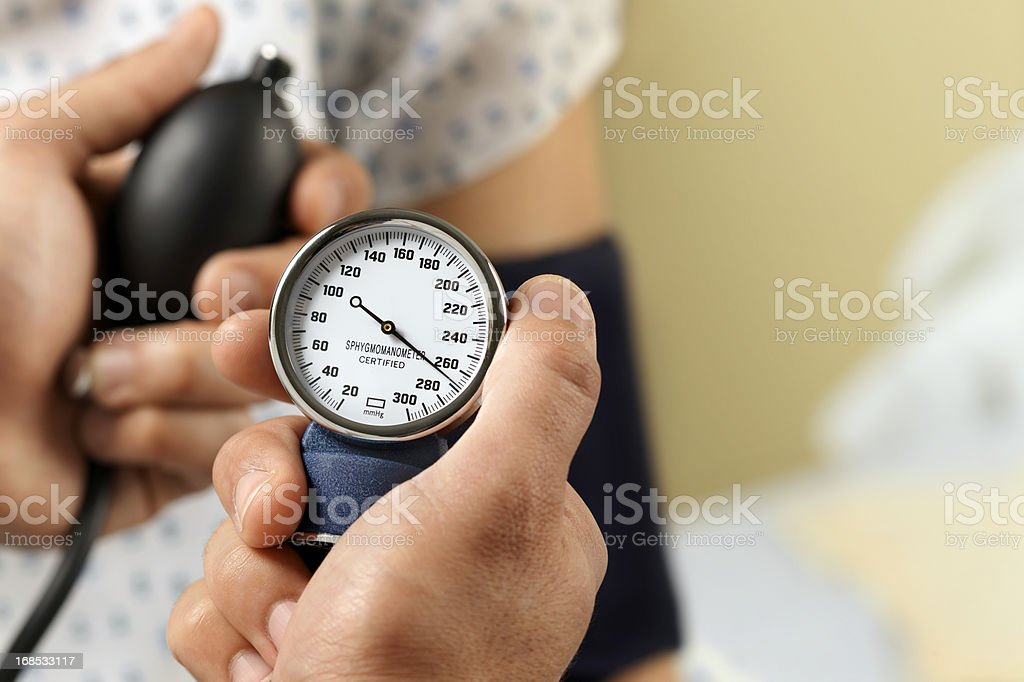Blood Pressure Gauge, medical Exam stock photo