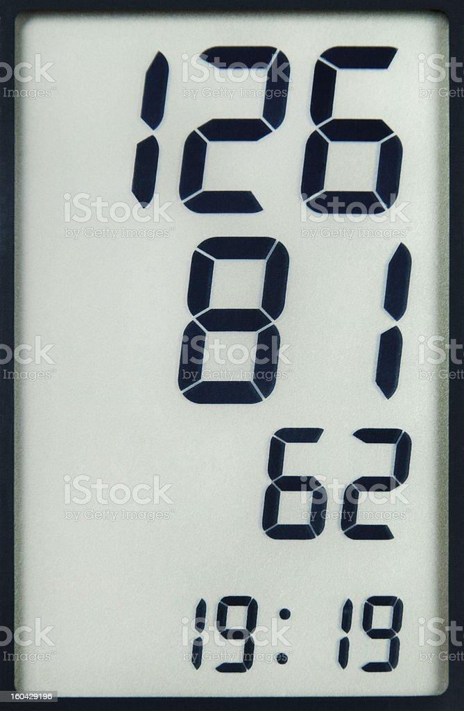 Blood Pressure Measurement Data royalty-free stock photo