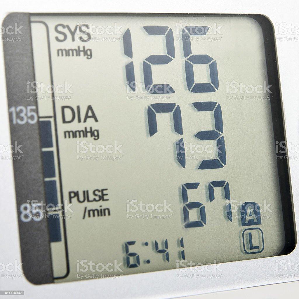 Blood pressure meter display royalty-free stock photo