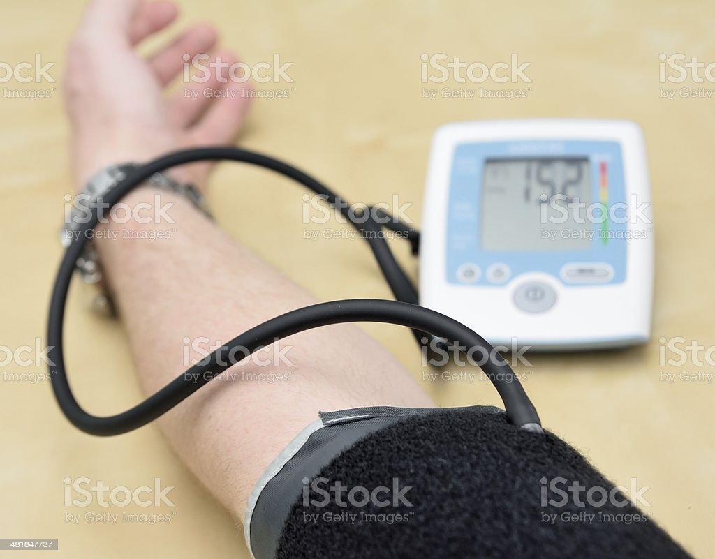 Blood pressure meter royalty-free stock photo