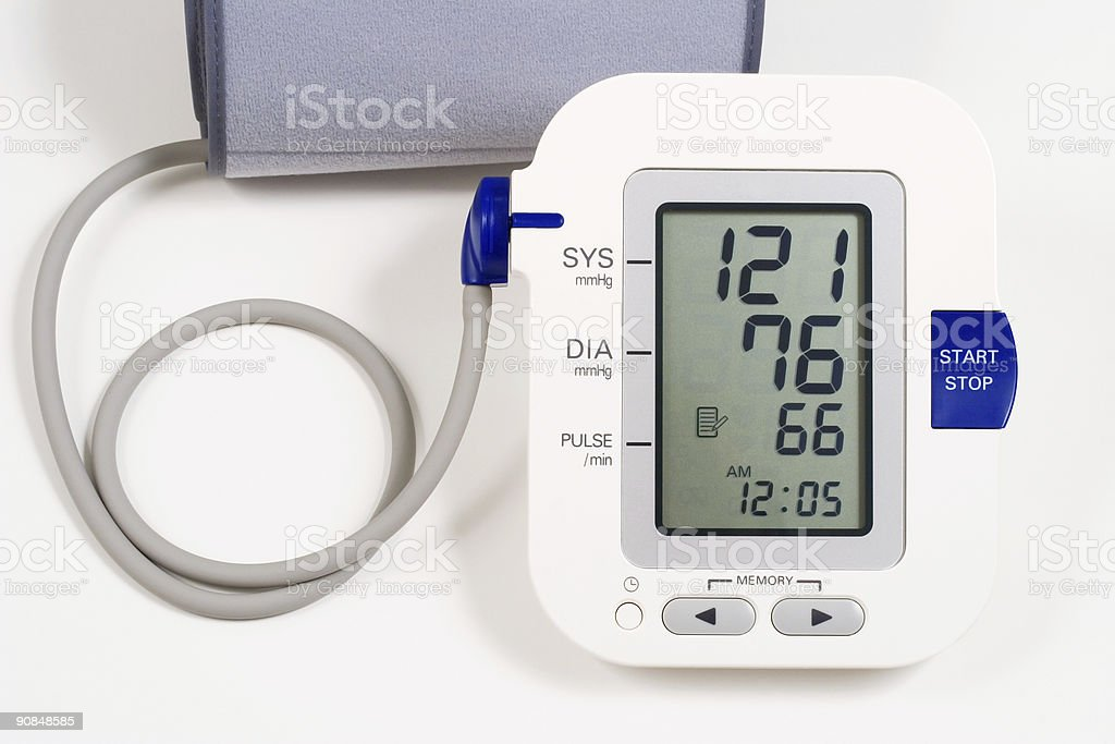 Blood pressure monitor royalty-free stock photo