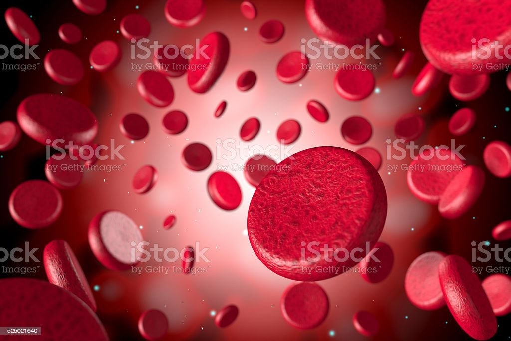3D blood red cells stock photo