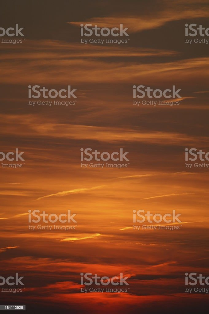Blood red sky royalty-free stock photo