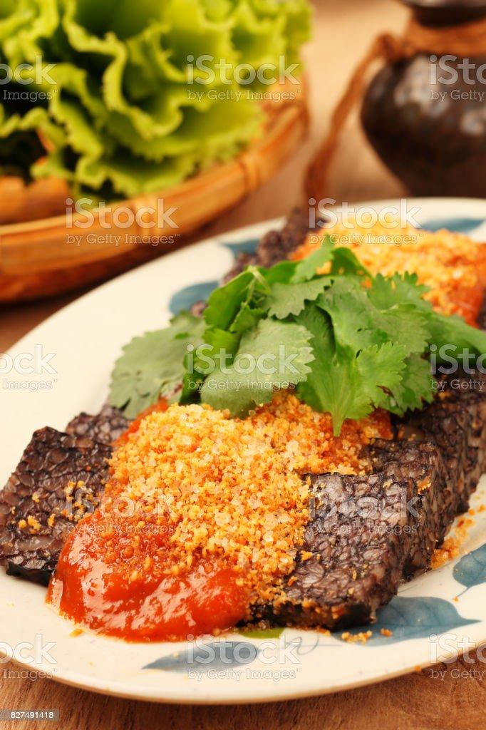 Blood rice cake stock photo
