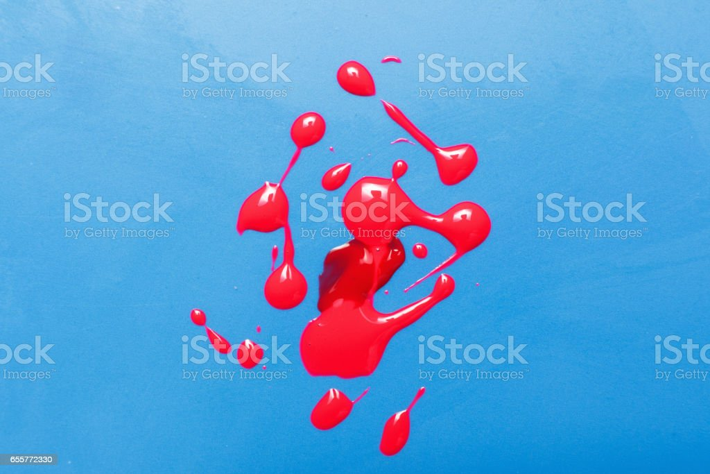 Blood sample, laboratory swab test. Modern art. stock photo