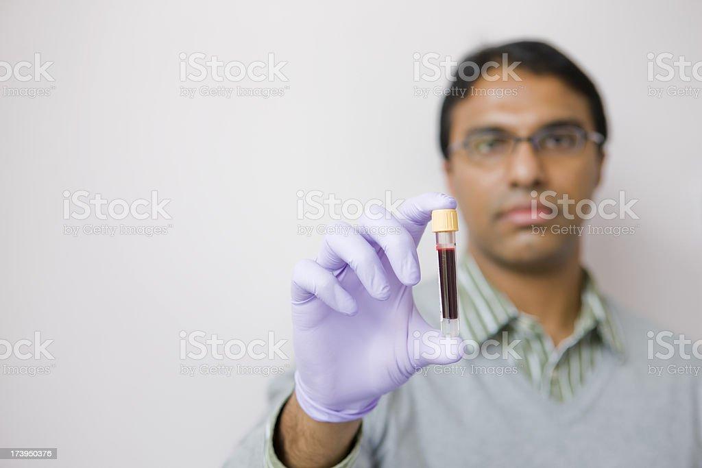Blood sample royalty-free stock photo