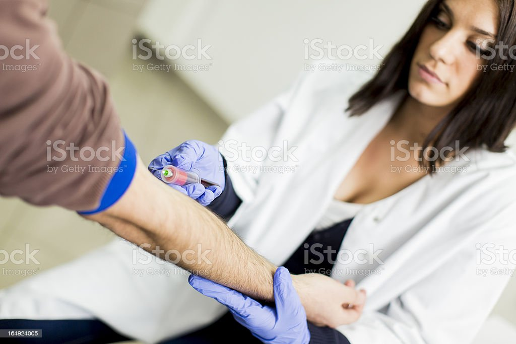 Blood sampling stock photo