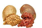 blood sausage and liversausage