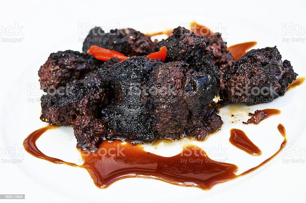 blood sausage stock photo
