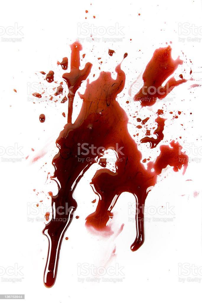 Blood Spat royalty-free stock photo