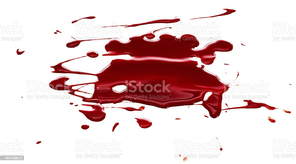 Blood spatter stock photo