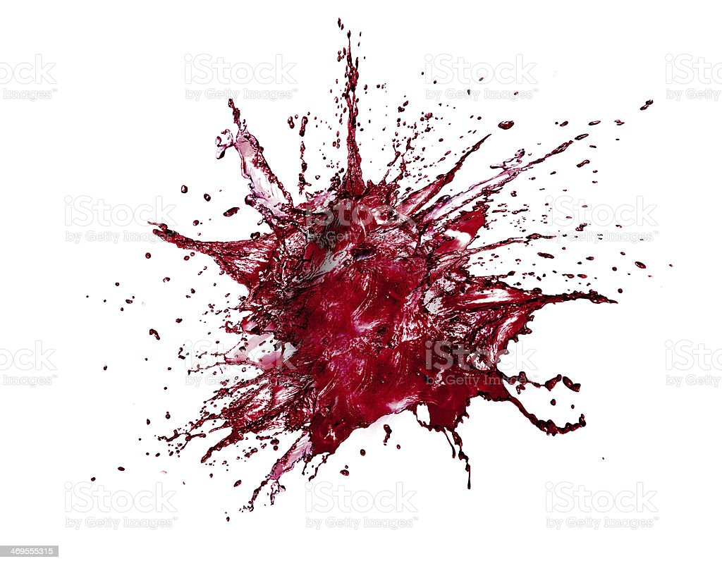 blood Splash Isolated stock photo