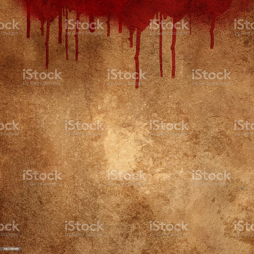 Blood splats on grunge background stock photo