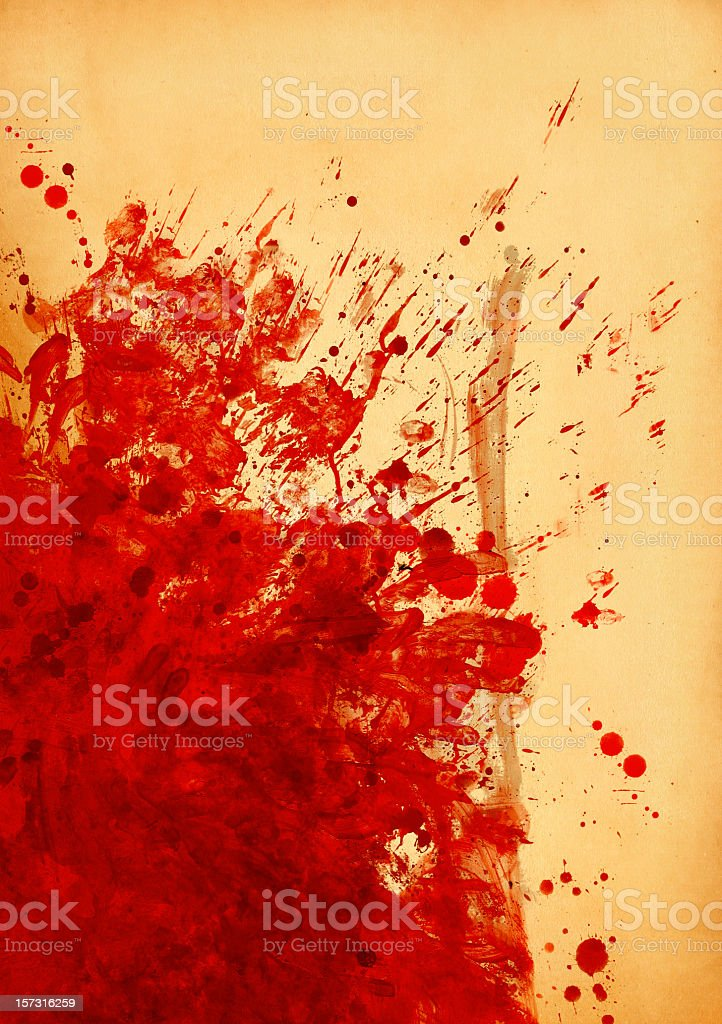Blood Stained Canvas royalty-free stock photo