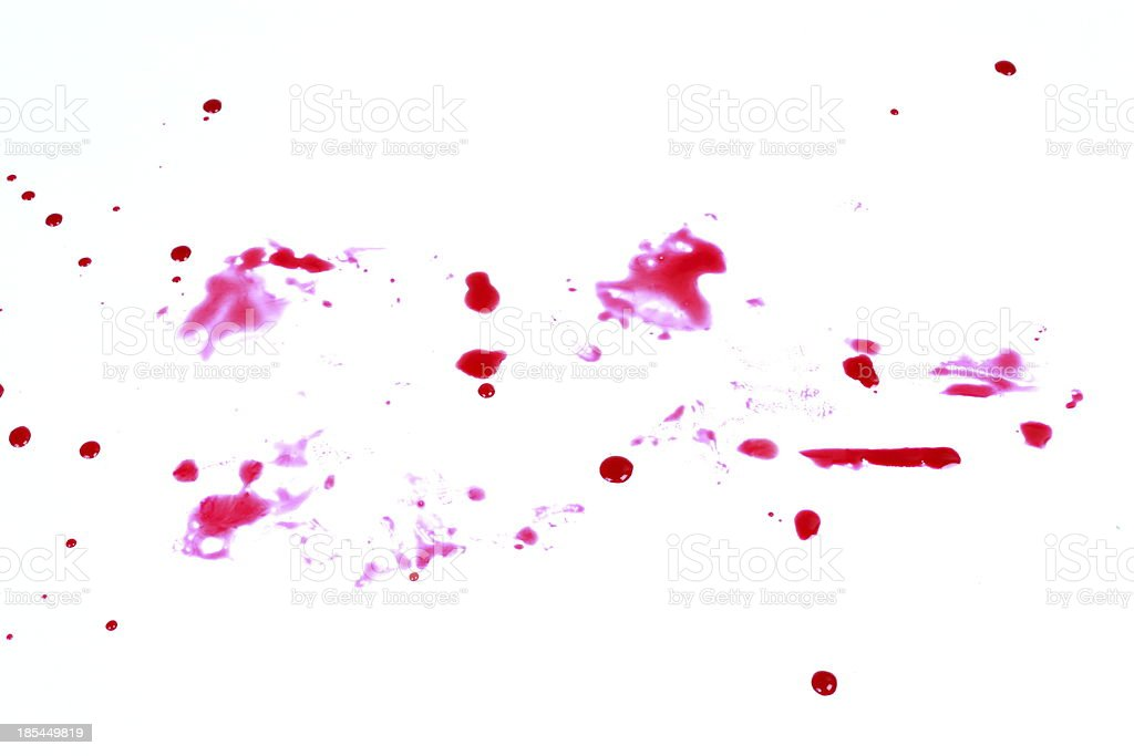 Blood stains isolated on white background 14 stock photo