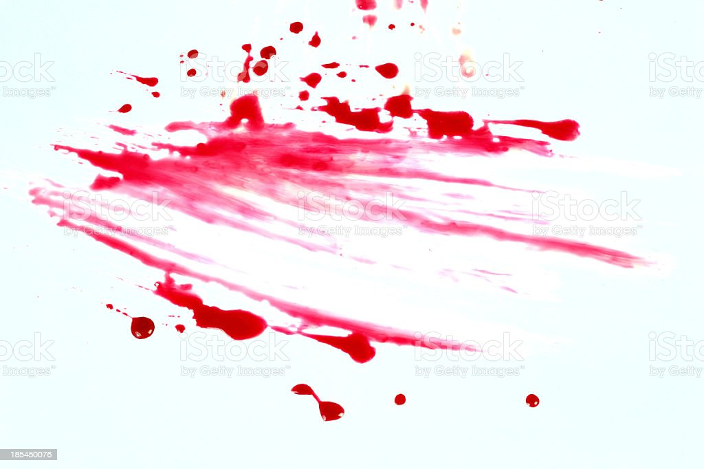 Blood stains isolated on white background 9 stock photo