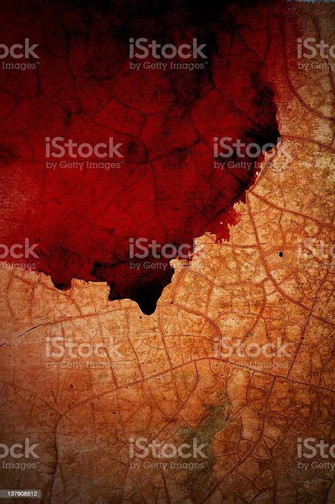 Blood stains on the walls to crack. royalty-free stock photo