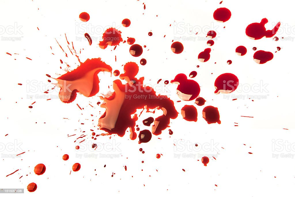 Blood stains royalty-free stock photo