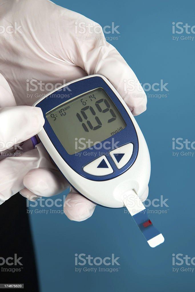 Blood Sugar Reading royalty-free stock photo