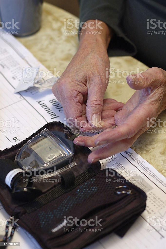 Blood Sugar Test royalty-free stock photo