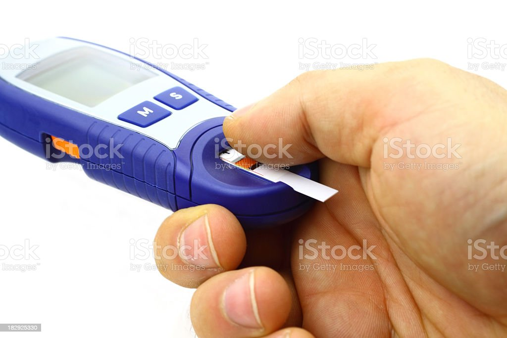 Blood test device royalty-free stock photo