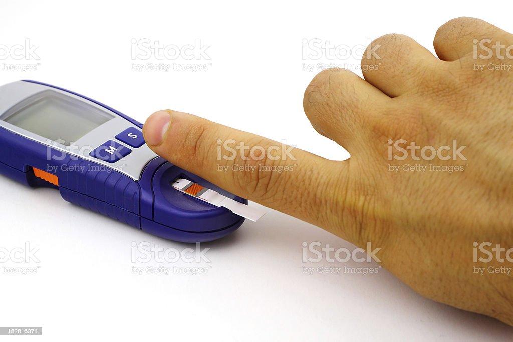 Blood testing stock photo