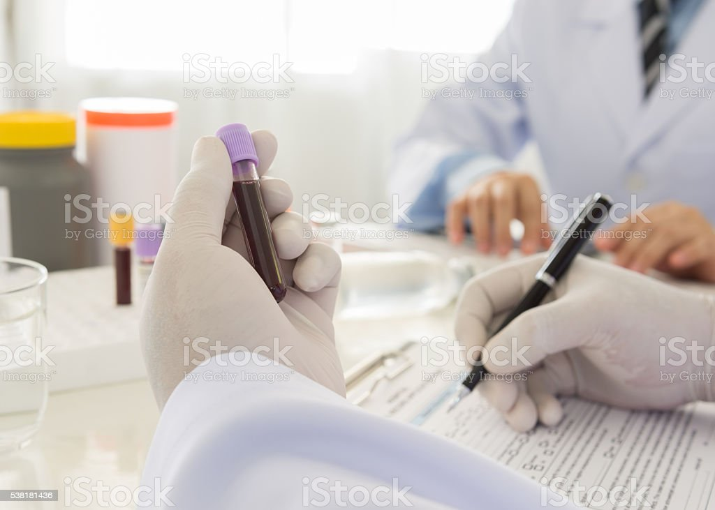 blood tests stock photo