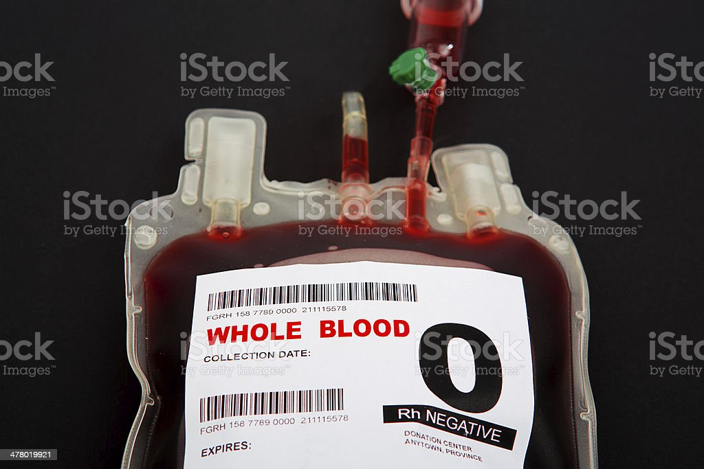 Blood transfusion royalty-free stock photo