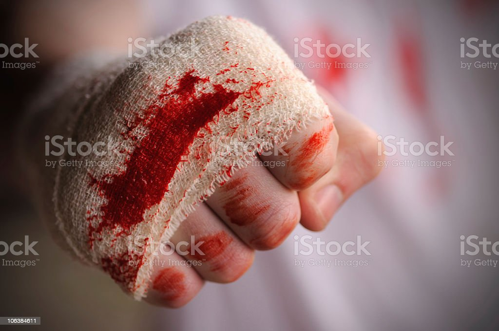 Bloodied Fist royalty-free stock photo