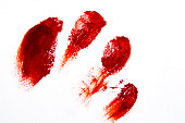Bloodly red finger prints