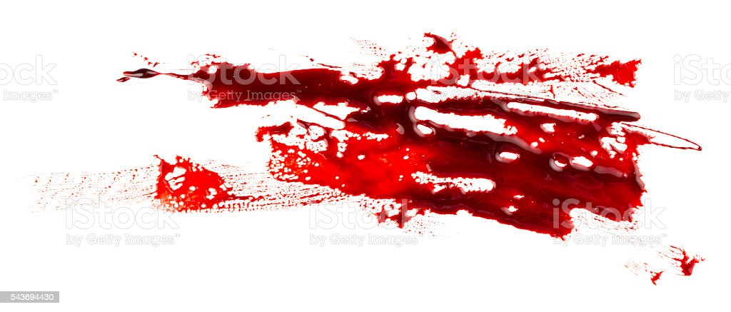 Bloodstain stock photo