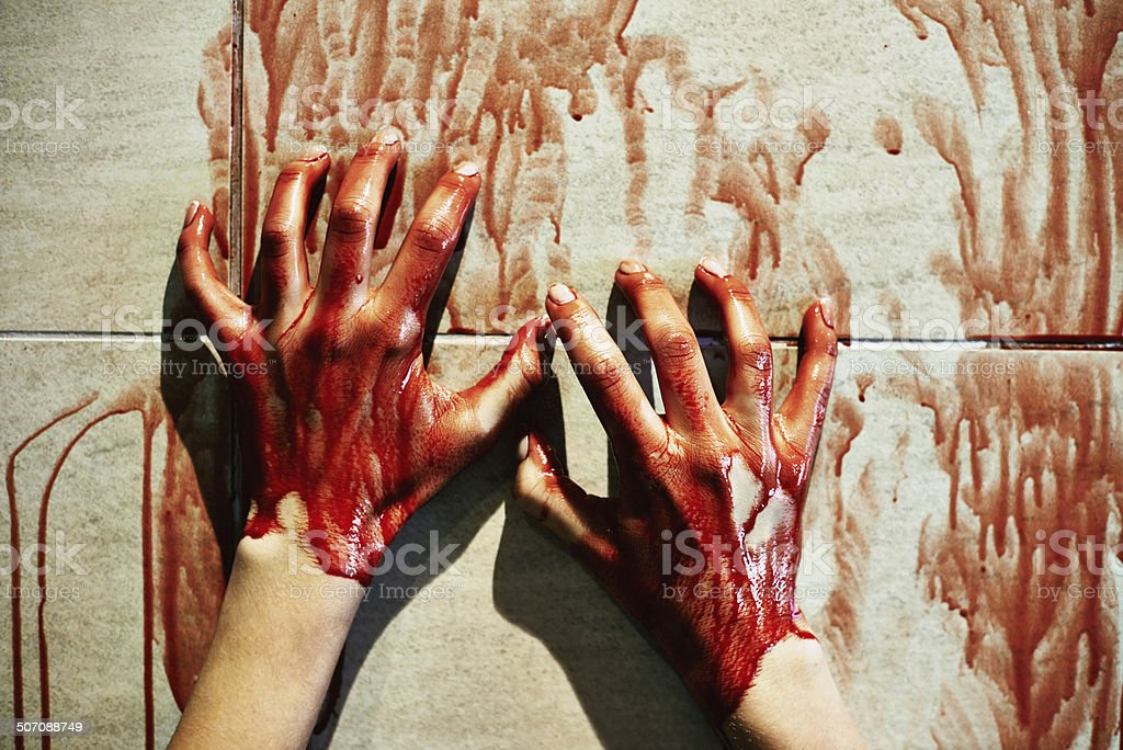Bloodstained walls stock photo