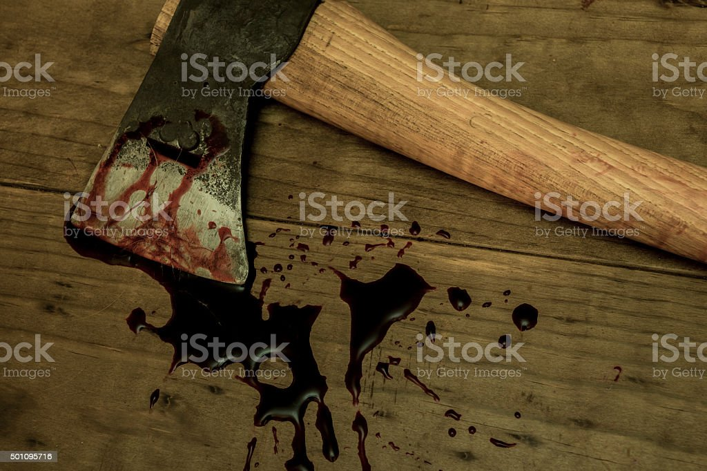 Bloody Ax stock photo